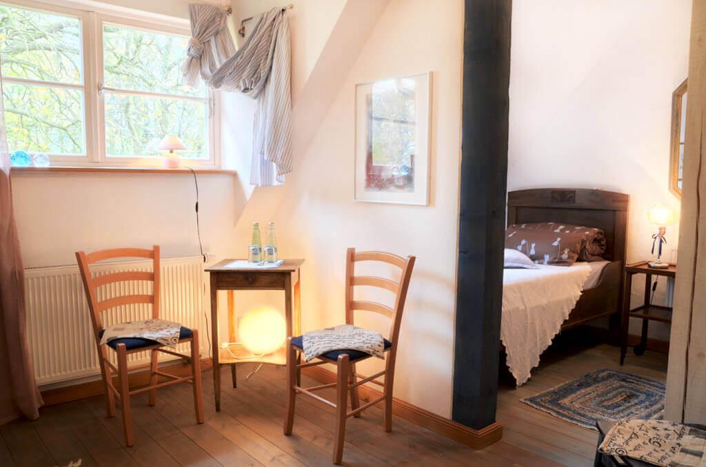 Zimmer Veilchen - Urlaub im Gutshaus Ehmkendorf in Mecklenburg Vorpommern