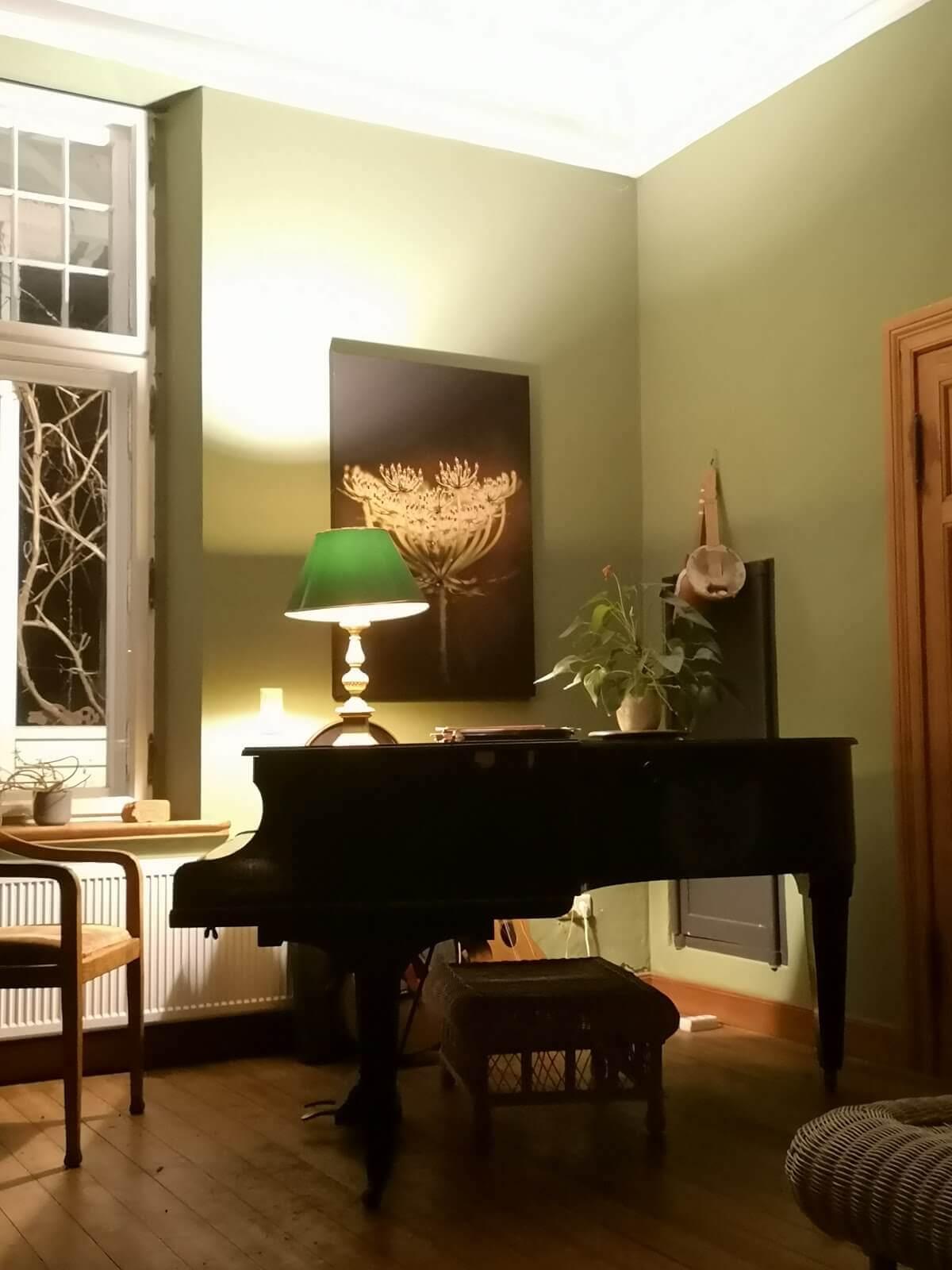 Gutshaus Ehmkendorf - Klavier im grünen Salon